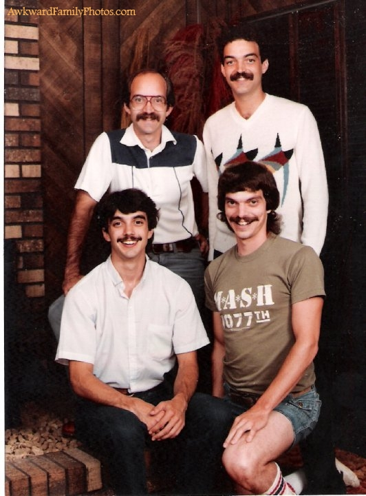 Awkward Family Photo Mustache Club