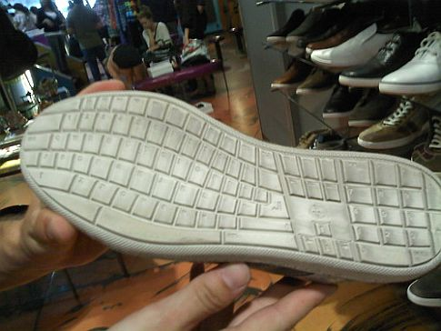 qwerty keyboard shoes